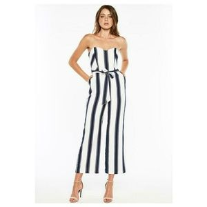 f36dff826c0 Bardot Pants   Evie Striped Tie Waist Jumpsuit   Poshmark